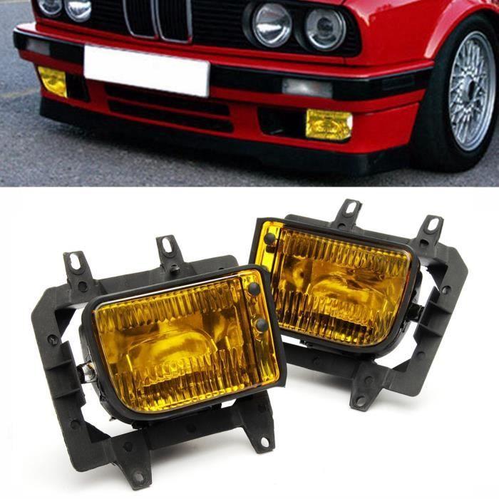 Phares antibrouillard Avant Lentille Orange Pour BMW E30 3-Serie Sedan 85-93
