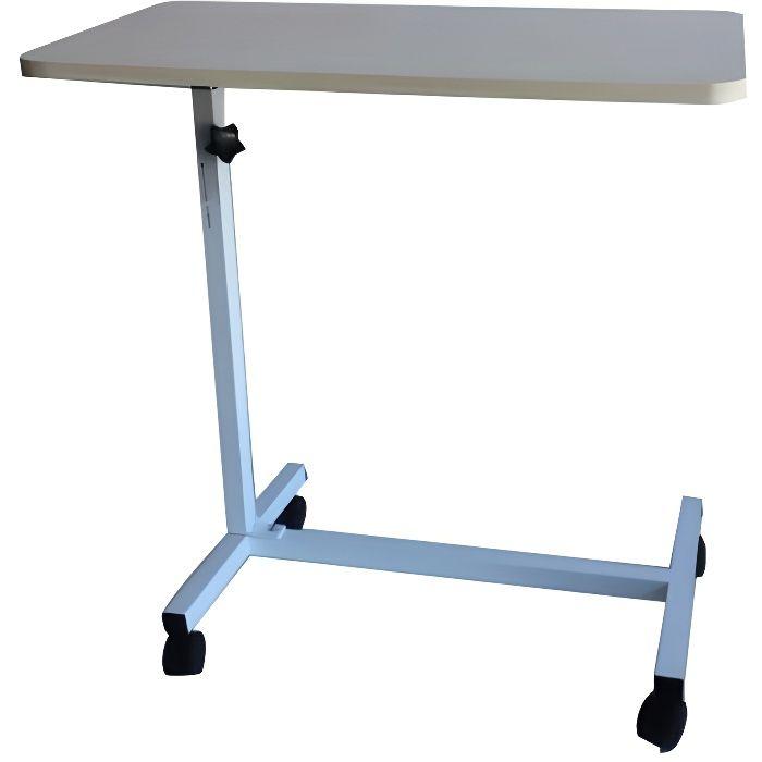 Table auxiliaire pour lit ou canapé - acier - hauteur réglable - Meseta - Mobiclinic