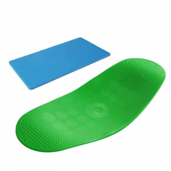 Tapis de sol,Planche d'équilibre multicolore en ABS pour Yoga et Fitness, équipement d'entraînement à la taille, - Type green