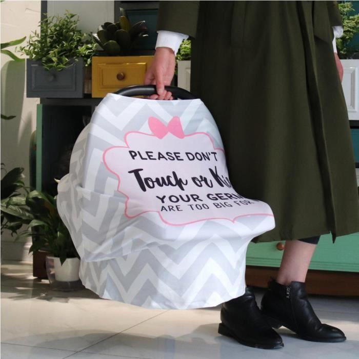 Sonew Écharpe d'allaitement Couverture de poussette pour bébé multifonctionnelle serviette de soins infirmiers mère housse de