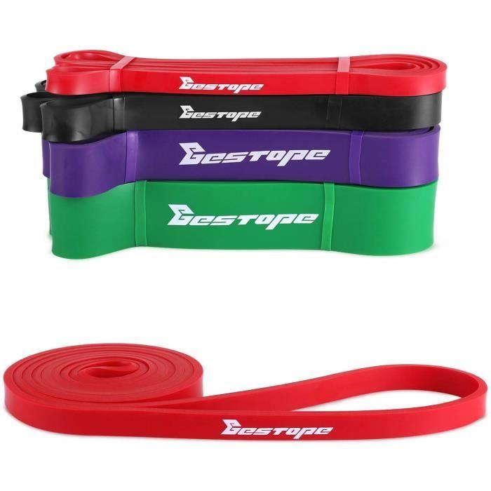 Bestope 1pcs Bandes de résistance Élastique Fitness Bandes d'exercice entraînement Sangle Liste déroulante rouge