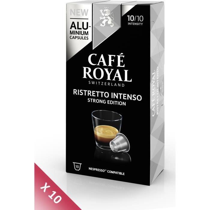 Lot de 10 CAFE ROYAL compatible Nespresso Alu Ristretto Intenso x10