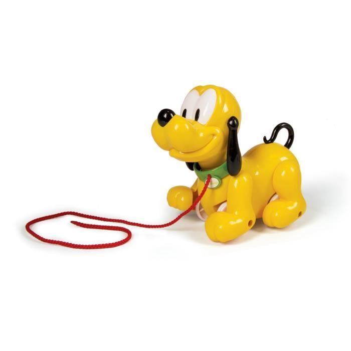 CLEMENTONI Disney Baby - Pluto te suit partout - Jouet à tirer
