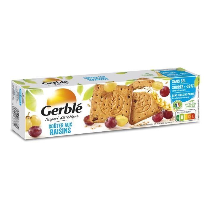 GERBLE Biscuit aux raisins, sans sel - 360 g
