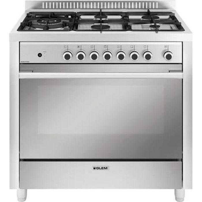 Glem Matrix GX960CVIX Cuisinière intégrable largeur : 90 cm profondeur : 60 cm hauteur : 86 cm avec système auto-nettoyant…