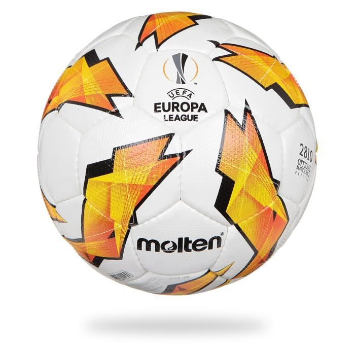 MOLTEN Ballon de Football Officiel UEFA Europa League 2810 - Blanc, Jaune et Noir