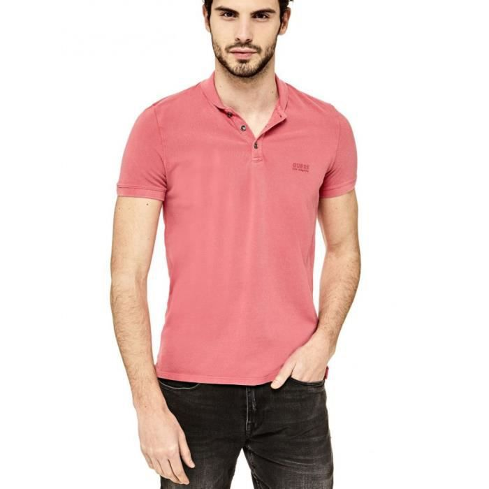 Guess Polo Homme Nore Rose Taille XXL