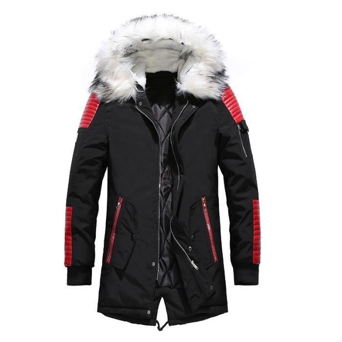 Manteau homme Manteau long pour manteau de Marque zippé Manteau Épaissir Longue section Vêtement Masculin manteau homme