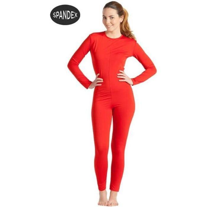 Justaucorps ou Combinaison Spandex Super Élastique Rouge pour femme