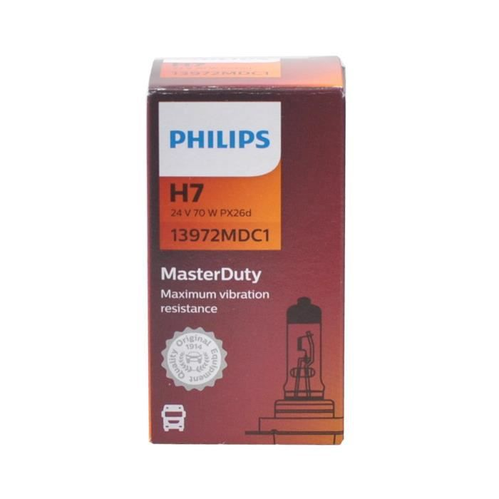 Ampoule PHILIPS H7 Master Duty 24V 70W
