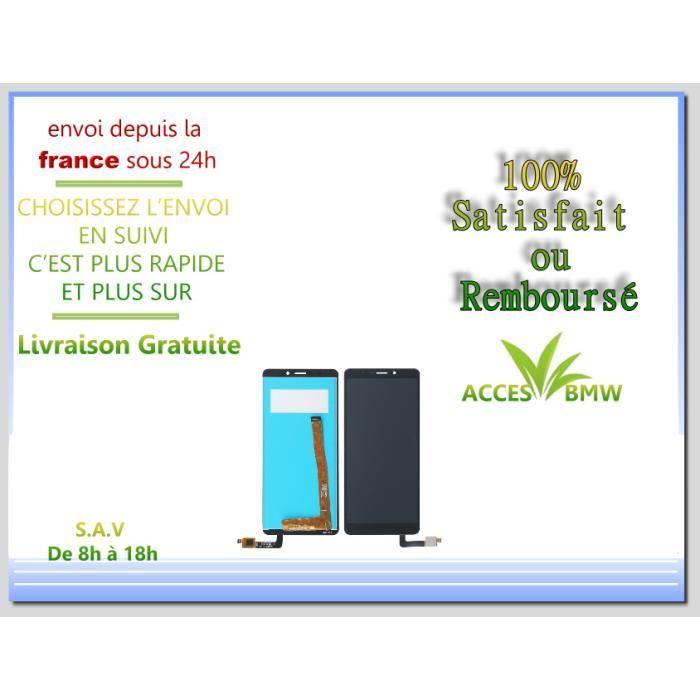 Ecran LCD + Vitre Tactile Wiko Pour View Lite - Noir