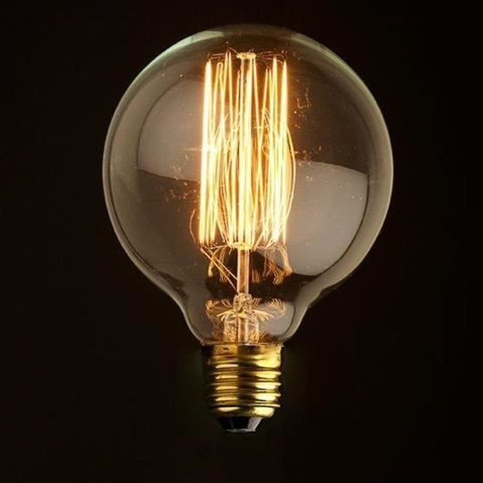 E27 G80 Ampoule Ancien Lampe Edison Tungstène Filament Maison Déco 110-130V