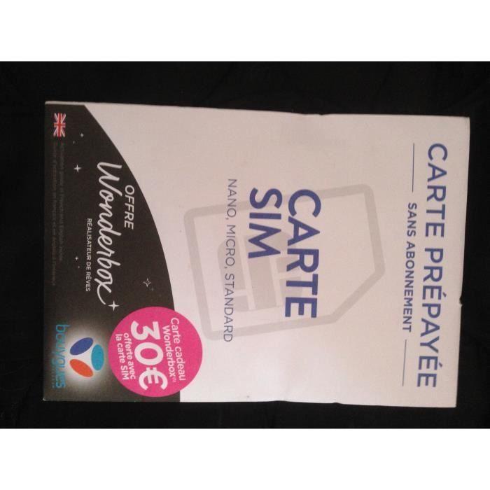 Carte Sim Prepayee Lyca Mobile Incluant 7 50e De Credit 5e 2 50e Offerts Telephones Portables Et Accessoires Cartes Sim