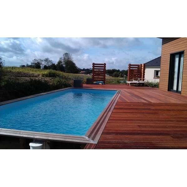 Piscine hors sol rectangle 3 5 x 5 5 m achat vente for Piscine jardin rectangle