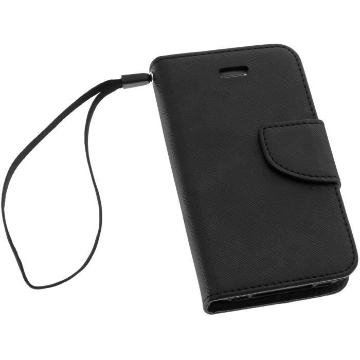 Housse etui clapet apple iphone 4 4s noir achat housse for Etui housse iphone 4
