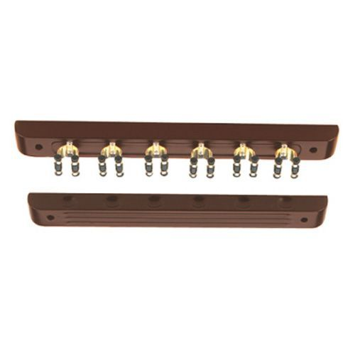 Porte queues mural clip dor 6 q acajou achat vente for Porte queue de billard mural design