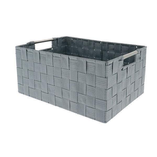 Plastique Transparent Stockage Panier avec poignées Clair Blanc Lot de 3 6 9 12