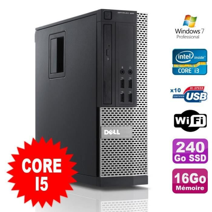 UNITÉ CENTRALE  PC Dell Optiplex 990 SFF I5-2400 3.1GHz 16Go Disqu