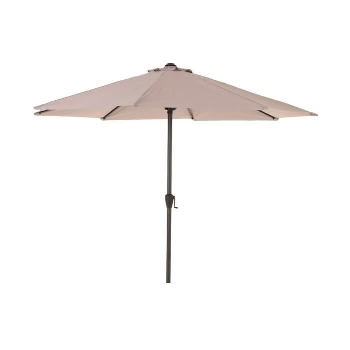 parasol fidji rond 3m hesperide taupe achat vente parasol parasol fidji rond 3m taupe. Black Bedroom Furniture Sets. Home Design Ideas