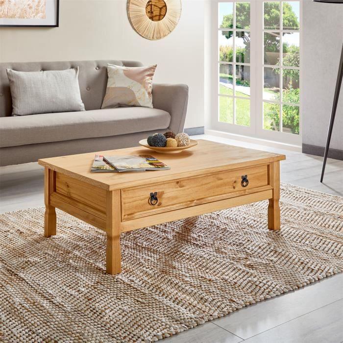 TABLE BASSE Table basse de salon TEQUILA rectangulaire style m
