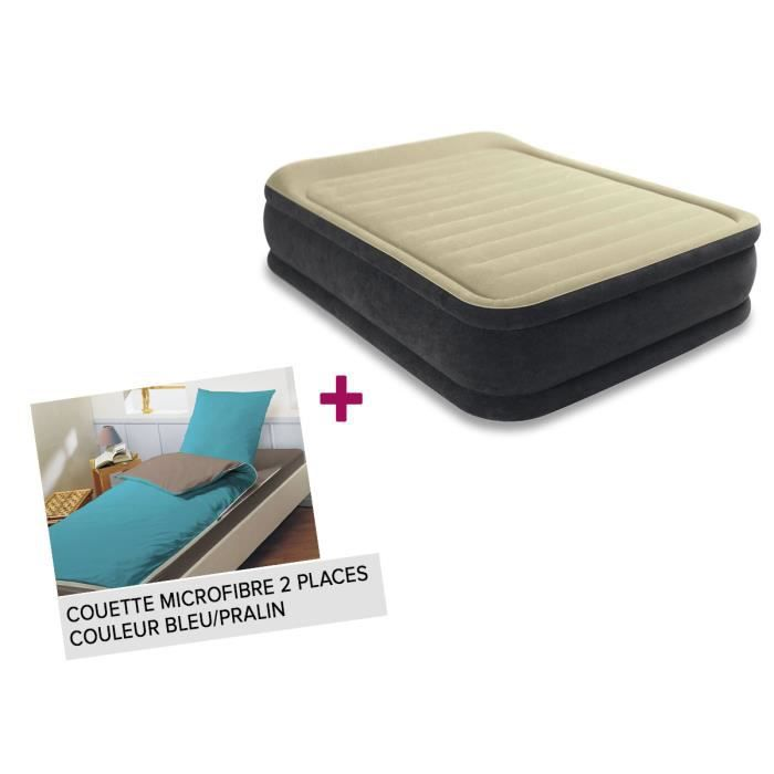 matelas gonflable lectrique 2 places intex premium comfort couette achat vente matelas. Black Bedroom Furniture Sets. Home Design Ideas