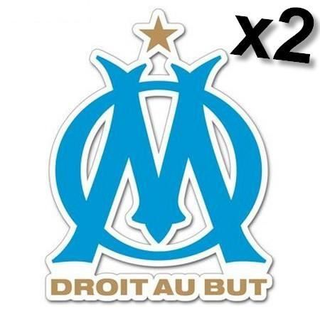 2 stickers om olympique de marseille achat vente for Decoration chambre olympique de marseille