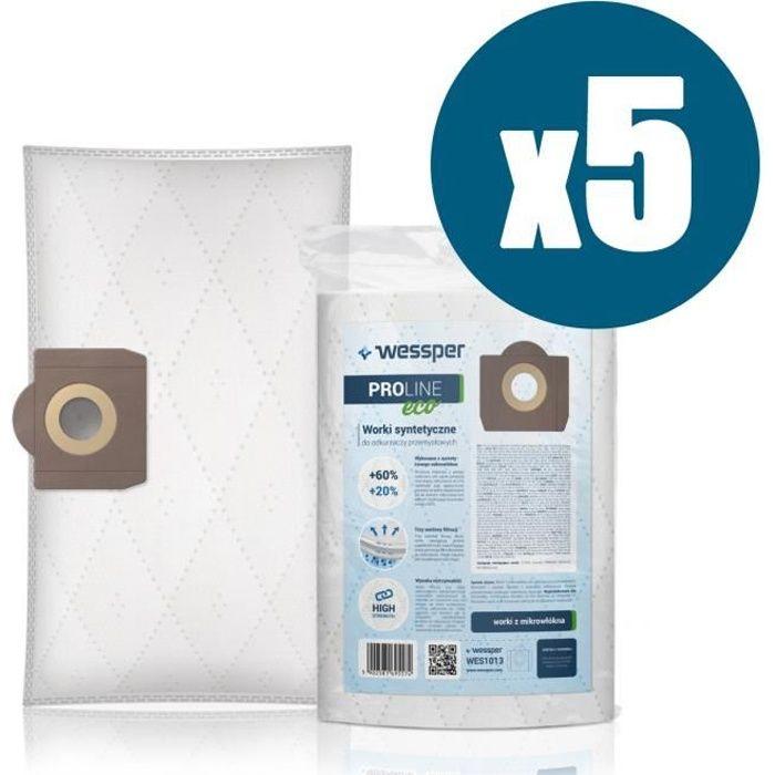 40 L Kga Supplies 30 L Lot de 5 sacs /à poussi/ère solides pour aspirateurs Titan 16 L 20 L
