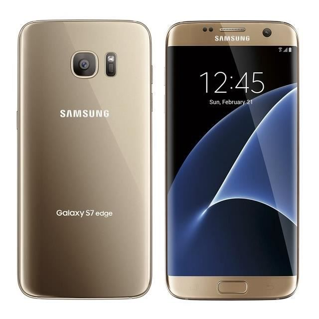 samsung galaxy s7 edge dual sim 32go or achat smartphone pas cher avis et meilleur prix. Black Bedroom Furniture Sets. Home Design Ideas