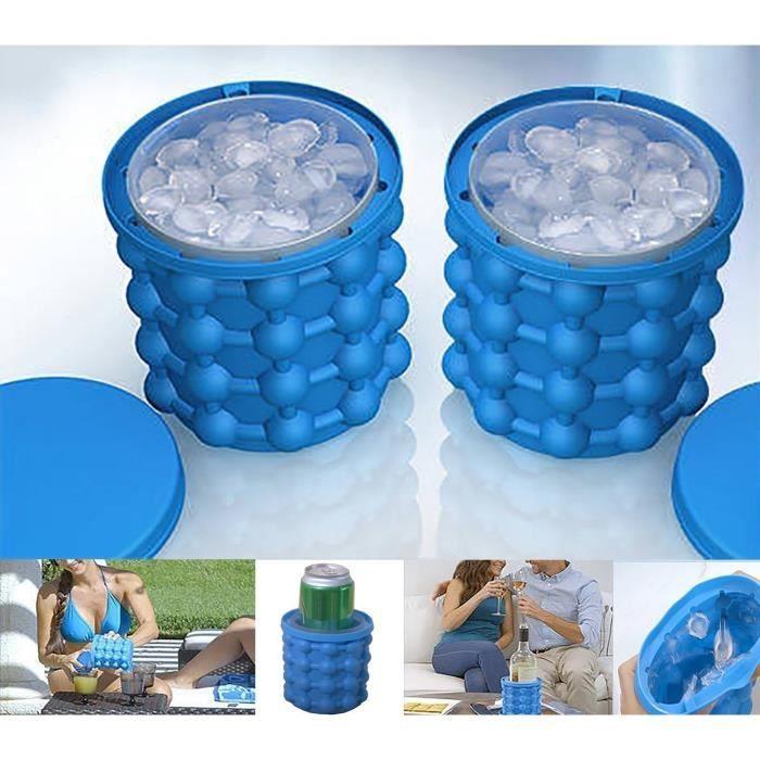 noir cocktails bleu SENHAI Lot de 2 bacs /à gla/çons en silicone en forme de diamant et de boule Moule /à gla/çons flexible pour whisky