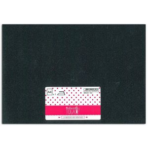MLLE TOGA Tissu glitter thermocollant - A4 - noir