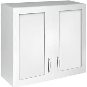 ÉLÉMENTS HAUT Meuble cuisine haut 80 cm 2 portes vitrées OXANE