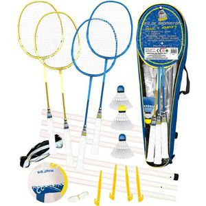 KIT BADMINTON CDTS Ensemble Badminton 4 Raquettes + Ballon Multi