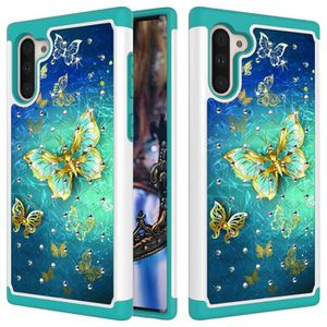 COQUE - BUMPER Coque Samsung Galaxy Note 10,Papillon D'or Diamant