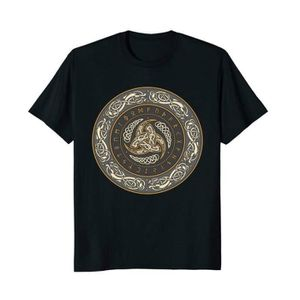 T-SHIRT bouclier viking odin viking en t - shirt à manches