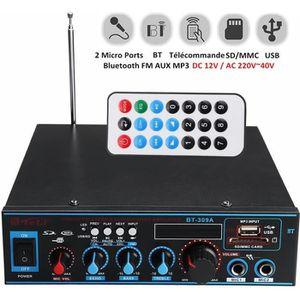 AMPLIFICATEUR HIFI Bluetooth Amplificateur Hi-Fi Stéréo 12V/220V FM U