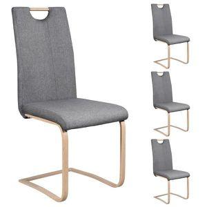 Chaise chrome Chaise tissu gris Chaise gris Chaise tissu chrome chrome tissu gris SGUMVpzq