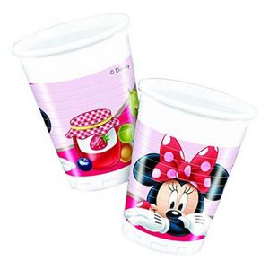 Décors de table Gobelets minnie garden (x8)
