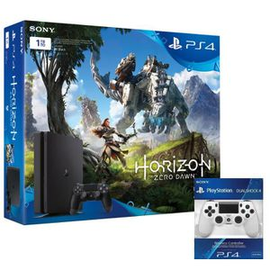 CONSOLE PS4 PS4 Slim 1to + Horizon zero + manette blanche