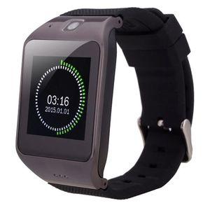 Téléphone portable Montre conectée noir Smartwatch 1.55 pouces écran