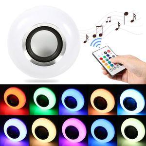 AMPOULE - LED E27 12W LED Ampoule RVB Bluetooth Haut-Parleur san