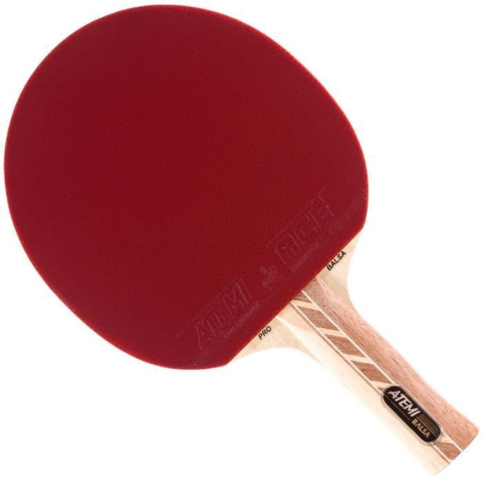 Atemi Raquette de Ping Pong 4000 (Bois de Balsa) Pro Offensive+ Raquette de Tennis de Table contrôle, Vitesse, Rotation - Débutan