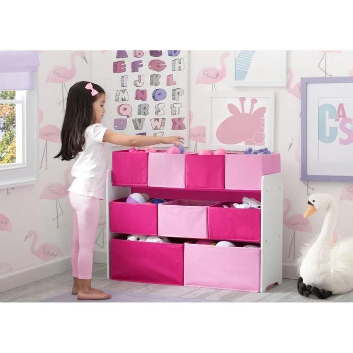 DELTA CHILDREN rangement bibliotheque blanc - rose