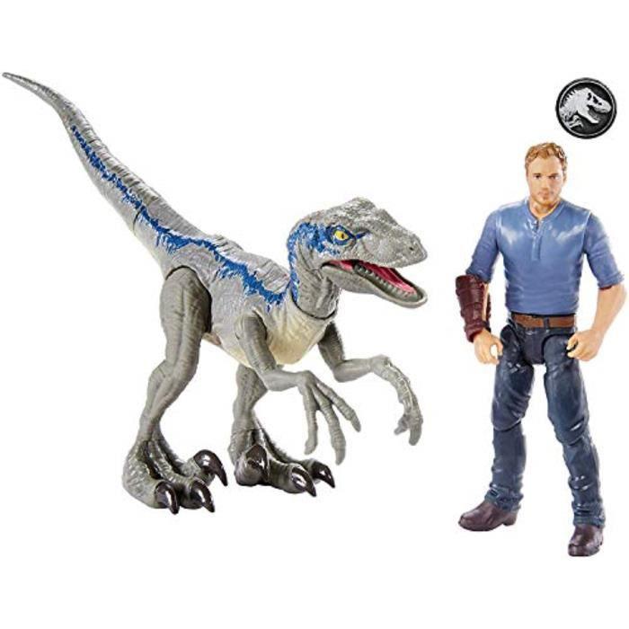 Figurine Miniature PLRVW Jurassic monde Histoire pack Velociraptor Blue & Owen