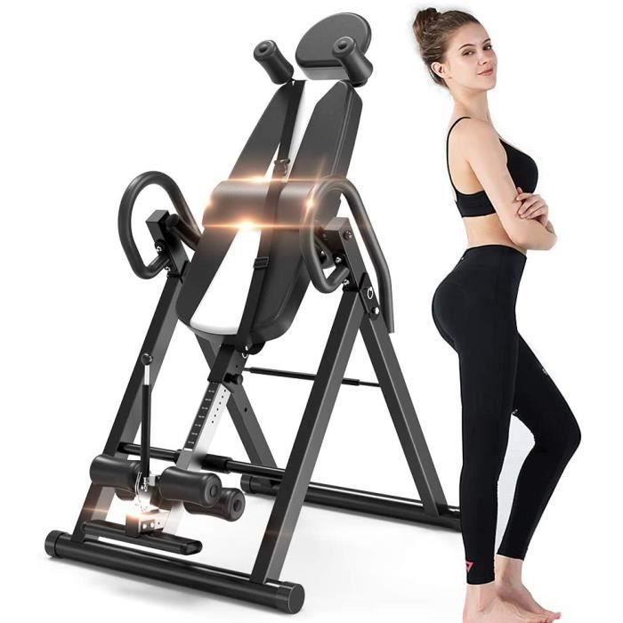 NOUVEAU Table d'Inversion Pliable Musculation Exercice Appareil du Dos Bras Sport