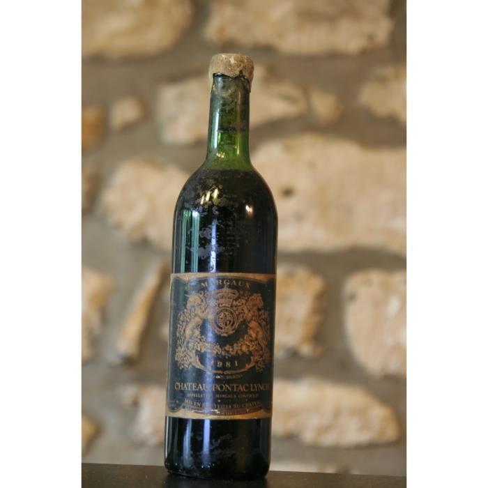Vin rouge,Château Pontac Lynch 1981 Rouge