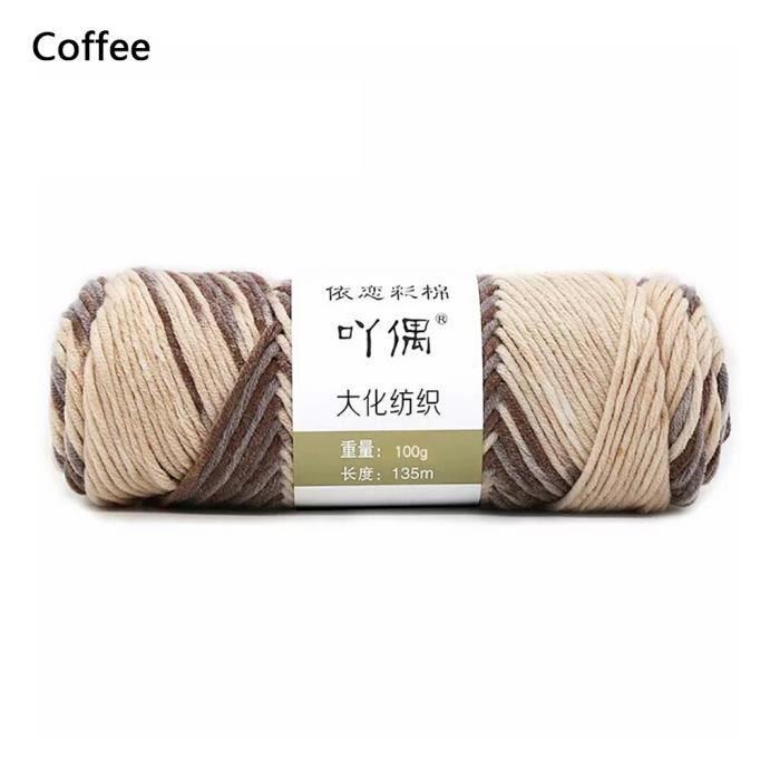 100g barre de fil de coton de lait couture main bricolage écharpe ligne ménage chaud ti530