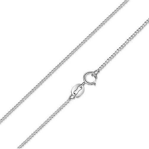 DIAN Jewellery 925 Argent Sterling 1.4 MM Collier Maille Gourmette - Argent Collier Chaîne pour Femmes - 45 CM
