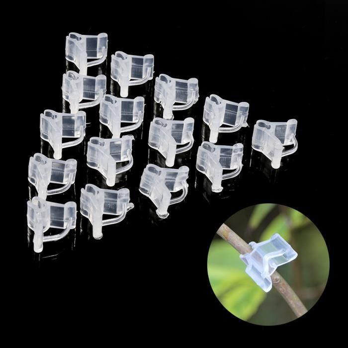 Clip de greffe de plante en plastique 100pcs de soutien connecteur horticole greffe de légume