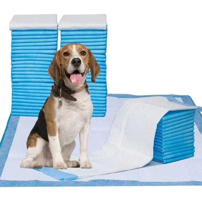 Tapis Educateurs pour Chien 60x58cm Puppy Pads alèses Chien Tapis Chiot proprete 84 Pièces Super Absorbant