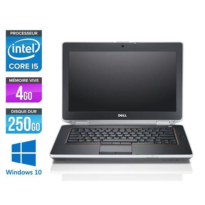 Pc portable Dell E6420 - i5 - 4Go - 250Go HDD - Windows 10